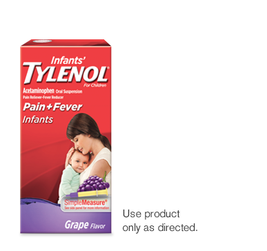 Infant pain and fever tylenol