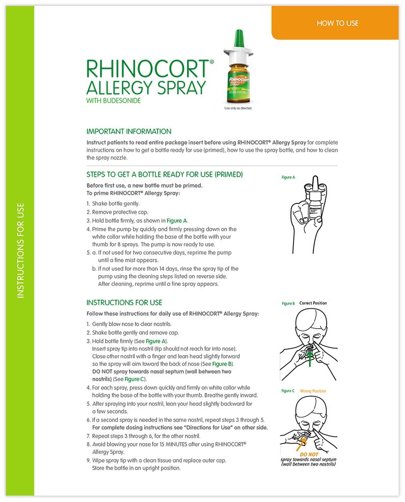 How to Administer RHINOCORT®