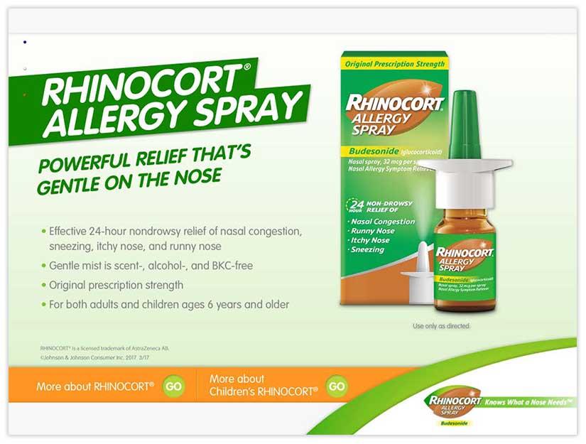 Zyrtec Rhinocort edetail