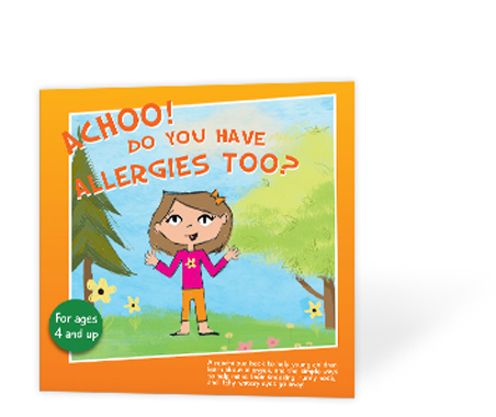 A resource for parents that includes a children's storybook on allergies