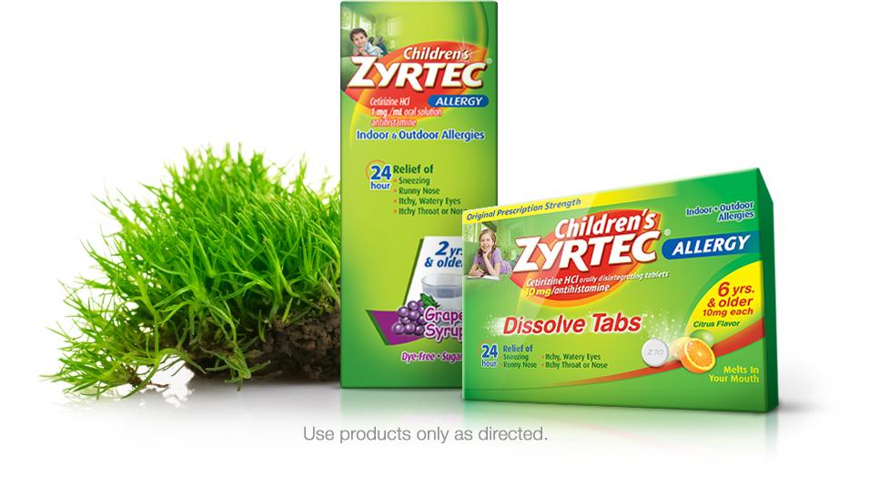 Children's zyrtec products