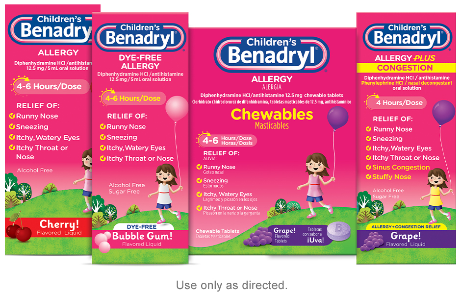 BENADRYL® provides relief when your pediatric patients need it most.