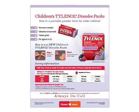 Children's TYLENOL® Dissolve Packs