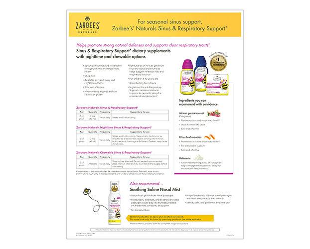 Zarbee's® Naturals Sinus & Respiratory Support